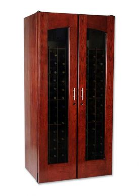 Enlarge Le Cache 2400 Series 286 Bottle Wine Cellar - Classic Cherry Finish
