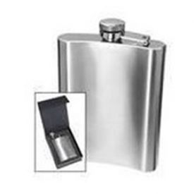Enlarge Oggi 7248 8-Ounce HIP Flask with Filling Funnel - Stainless Steel