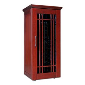 Enlarge Le Cache Mission 1400 172-Bottle Wine Cellar - Classic Cherry Finish