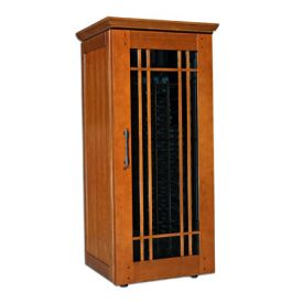 Enlarge Le Cache Mission 1400 172-Bottle Wine Cellar - Provincial Cherry Finish