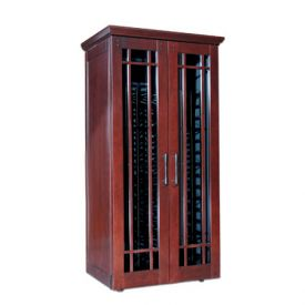 Enlarge Le Cache Mission 2400 286 -Bottle Wine Cabinet - Classic Cherry Finish