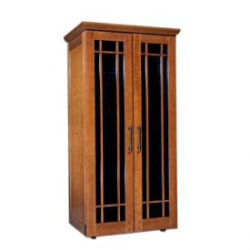 Enlarge Le Cache Mission 2400 286 -Bottle Wine Cabinet - Provincial Cherry Finish