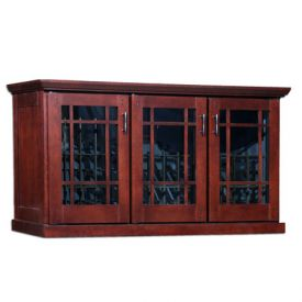 Enlarge Le Cache Mission Credenza 180-Bottle Wine Cellar - Classic Cherry Finish