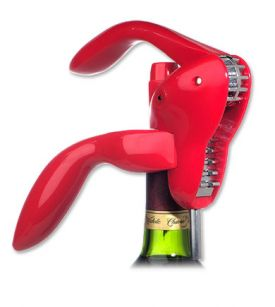Enlarge Metrokane 2805 Houdini Corkscrew Wine Opener - Red