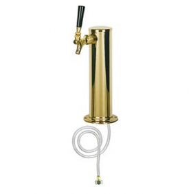 Enlarge D4743T-PVD Polished PVD Brass 1-Faucet Keg Beer Tower - 3