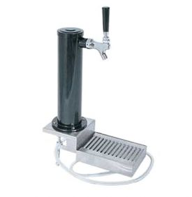 Enlarge DS431CL Black ABS Plastic Single Faucet Clamp-On Draft Beer Tower