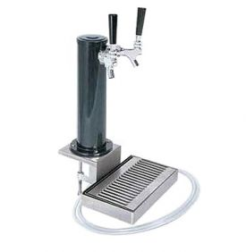 Enlarge DS432CL Black ABS Plastic Dual Faucet Clamp-On Draft Beer Tower