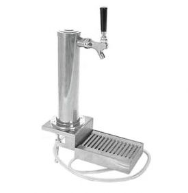 Enlarge DS531CL Chrome ABS Plastic Single Faucet Clamp-On Draft Beer Tower