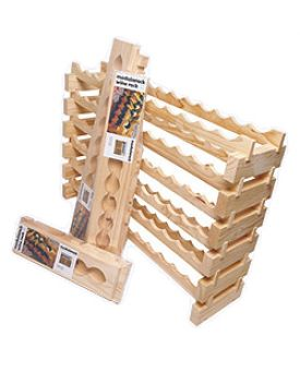Enlarge 8 Bottle Modular Wine Rack - Stained