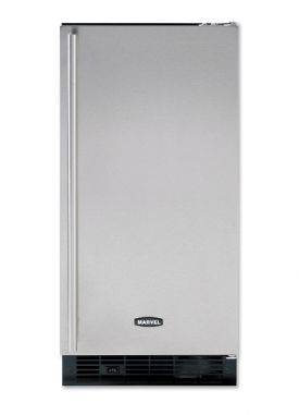 Enlarge Marvel 30iMT-WW-O-R Built-in Ice Maker - White Cabinet and White Custom Overlay Door