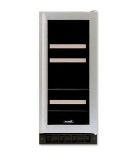 Enlarge Marvel 3BARM-BS-G-R Two-Zone Beverage/Wine Refrigerator - Stainless Steel Door