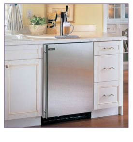 Enlarge Marvel 61HK-BS-F-R-X1 Built-in Kegerator Cabinet with BeverageFactory.com X-CLUSIVE Premium Direct Draw Kit - Black Cabinet with Stainless Steel Door