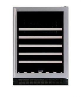 Enlarge Marvel 61WCM-BS-G-RL 45-Bottle Wine Refrigerator - Stainless Steel Door Trim