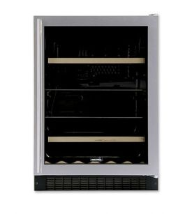 Enlarge Open Box Return - Marvel 6BARM-BB-G-R Two-Zone Beverage/Wine Refrigerator - Black