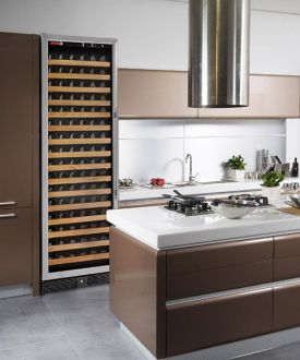 Enlarge Allavino MWR-1681-SSR 170 Bottle Wine Cellar Refrigerator - Bottle Single-Zone  Black Cabinet with Stainless Door - Right Hinge