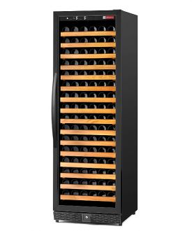 Enlarge Allavino MWR-1681-BL-C 170 Bottle Wine Cellar Refrigerator - Single-Zone Black Cabinet with Black Door - Left Hinge