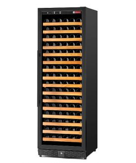 Enlarge Allavino MWR-1681-BL 170 Bottle Wine Cellar Refrigerator - Single-Zone Black Cabinet with Black Door - Left Hinge - Straight Handle