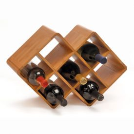 Enlarge Bamboo 8-Bottle Wine Rack