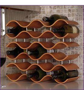 Enlarge Bali 15 Bottle Countertop Wine Rack - Spiced Pumpkin