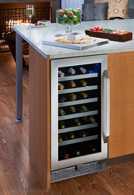 Enlarge Danby Silhouette  DWC93BLSST 34 Bottle Built-In Wine Cooler