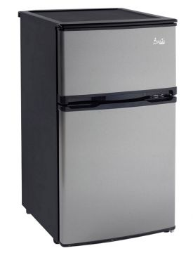 Enlarge Avanti RA304SST-1 - 3.1 CF Two Door Counterhigh Refrigerator - Black Cabinet with Stainless Steel Doors