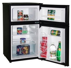 Enlarge Avanti RA3101BT 3.1 Cu. Ft. Counterhigh Two Door Refridgerator Freezer w/ Reversible Doors - Black