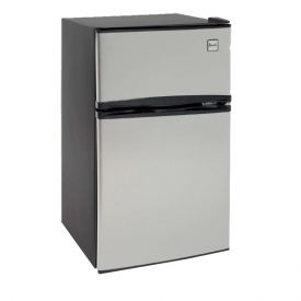 Enlarge Avanti RA3136SST - 3.1 CF Two Door Counterhigh Refrigerator - Black with Stainless Steel Doors