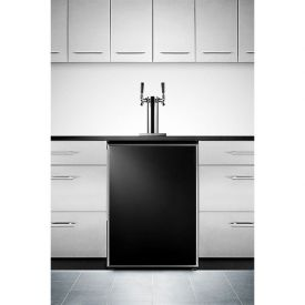 Enlarge Summit SBC490BIFRTWIN Built-In Dual Faucet Kegerator with Stainless Steel Framed Door