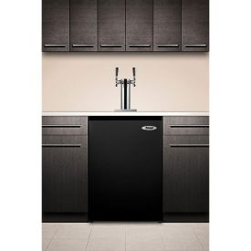 Enlarge Summit SBC490BITWIN Dual Faucet Built-in Kegerator - Black