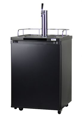 Enlarge Kegco K209B-1 Full Size Kegerator - Black Cabinet with Matte Black Door