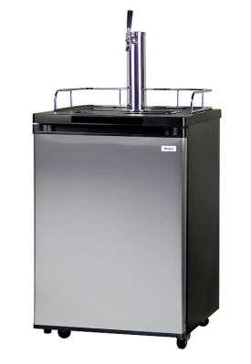 Enlarge Kegco KOM20S-1 Kombucha Cooler Dispenser with Black Cabinet and Stainless Steel Door
