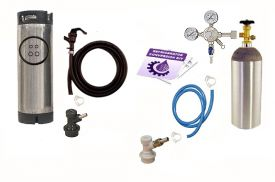Enlarge Kegco One Keg Homebrew Party Kegerator Kit - Ball Lock