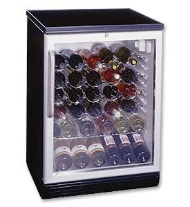 Enlarge Summit SWC-6GBLTB 50 Bottle Wine Refrigerator with Stainless Towel Bar Handle