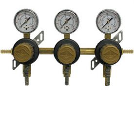 Enlarge T1683STC-01 Three Product Secondary Co2 Regulator with Check Valve by Taprite