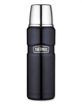 Enlarge Thermos SK2000MBTRI4 Stainless King 470mL Beverage Bottle - Midnight Blue
