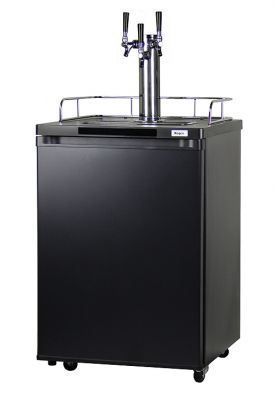 Enlarge Kegco K209B-3 Triple Faucet Kegerator - Black Cabinet with Matte Black Door