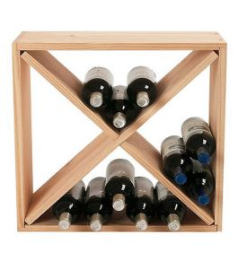 Enlarge 24-Bottle Pine Compact Cube Wine Rack - Natural