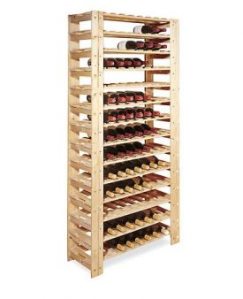 Enlarge 126 Bottle Swedish Pine Wine Rack - Natural, Unfinished