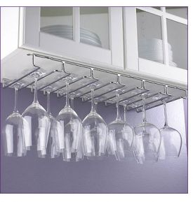 Enlarge Large Under Cabinet Hanging Stemware Rack