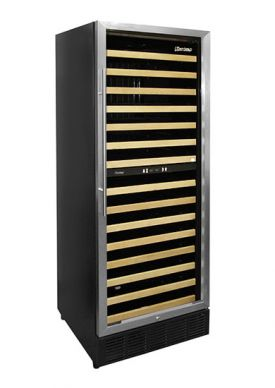 Enlarge Vinotemp VT-188-MBSH 160-Bottle Dual Zone Built-in Wine Refrigerator