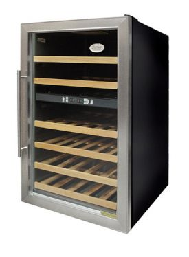 Enlarge Vinotemp VT-342ZONE 34-Bottle Dual Zone Wine Refrigerator - Brushed Metal Door Trim