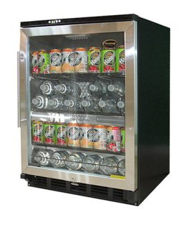 Enlarge Vinotemp BC-58SB Beverage Cooler - Black/Stainless Steel Glass Door