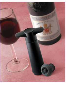 Enlarge Vacu Vin Wine Saver Preservation Giftpack - Black Vacuum Pump