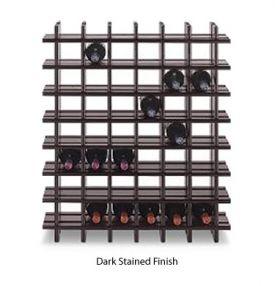 Enlarge 42-Bottle Cubby Wine Rack - Dark Stained Finish