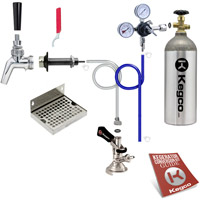 Premium Door Mount Oktoberfest Kegerator Conversion Kit - 100% Stainless Beer Contact
