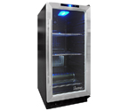 Vinotemp VT-32BCSB10 Beverage Cooler - Black Cabinet with Stainless Steel Glass Door