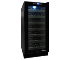 Vinotemp VT-32TS-FE 33-Bottle Built-In Touch Screen Wine Cooler - Black Cabinet w/ Black Door