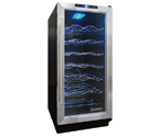 Vinotemp VT-TC32SB10 32-Bottle Built-in Wine Refrigerator - Black Cabinet w/ Stainless Trim Door