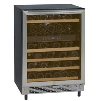 49-Bottle Built-In Single Zone Wine Chiller